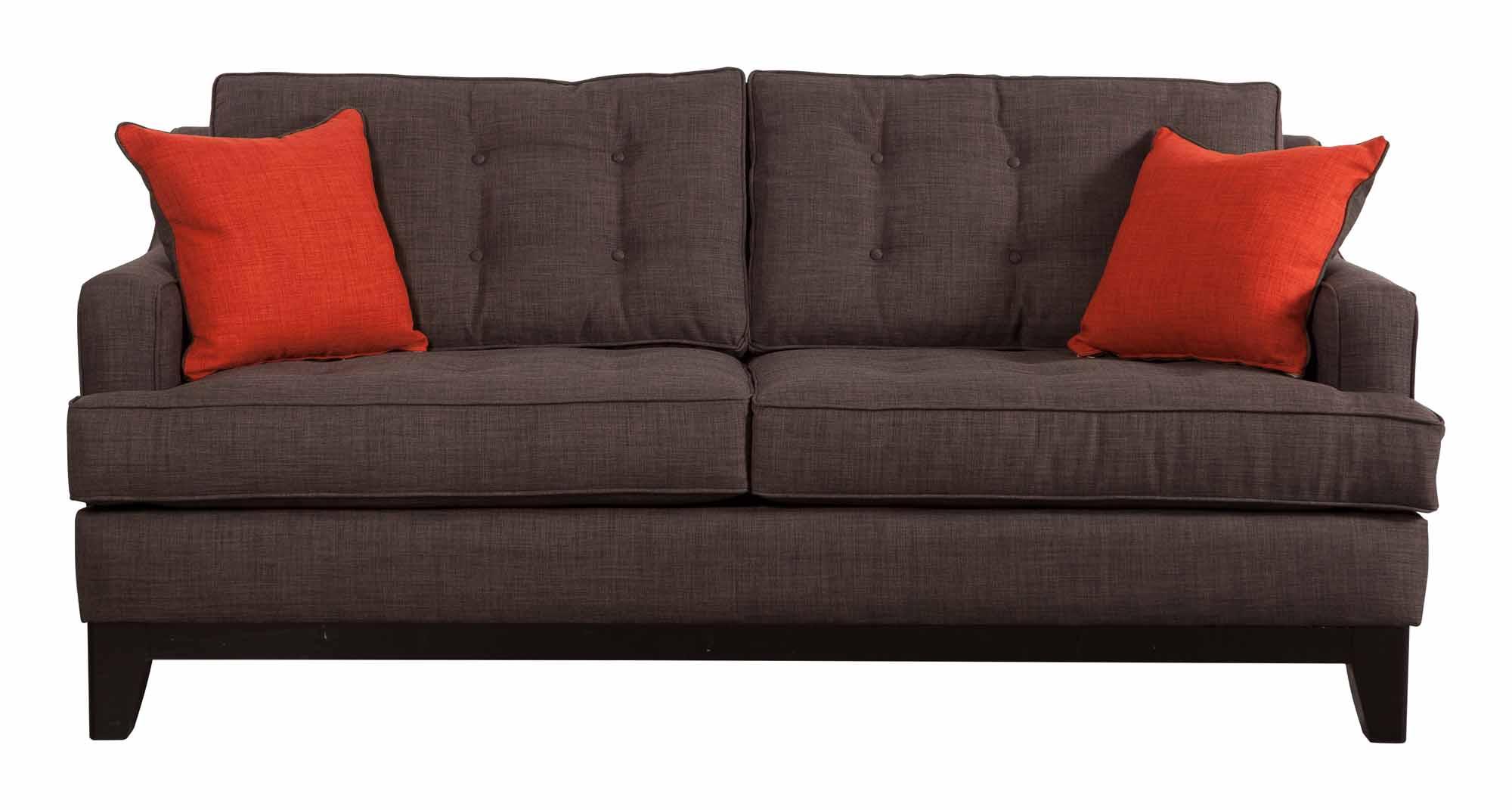 Chicago Sofa Charcoal/Burnt Orange By Zuo Modern (Zuo Modern)
