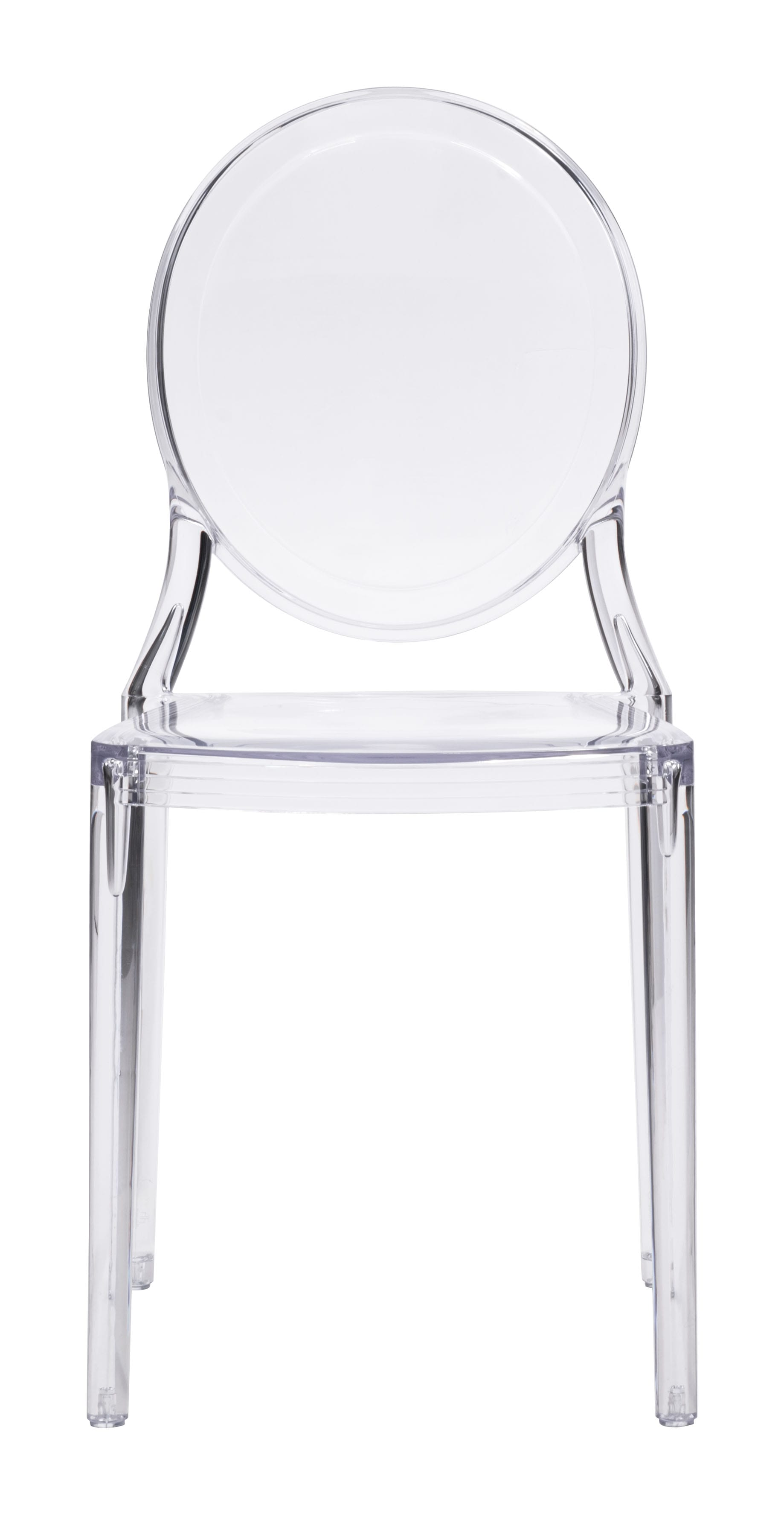 Specter Dining Chair Clear Set of 2 by Zuo Modern