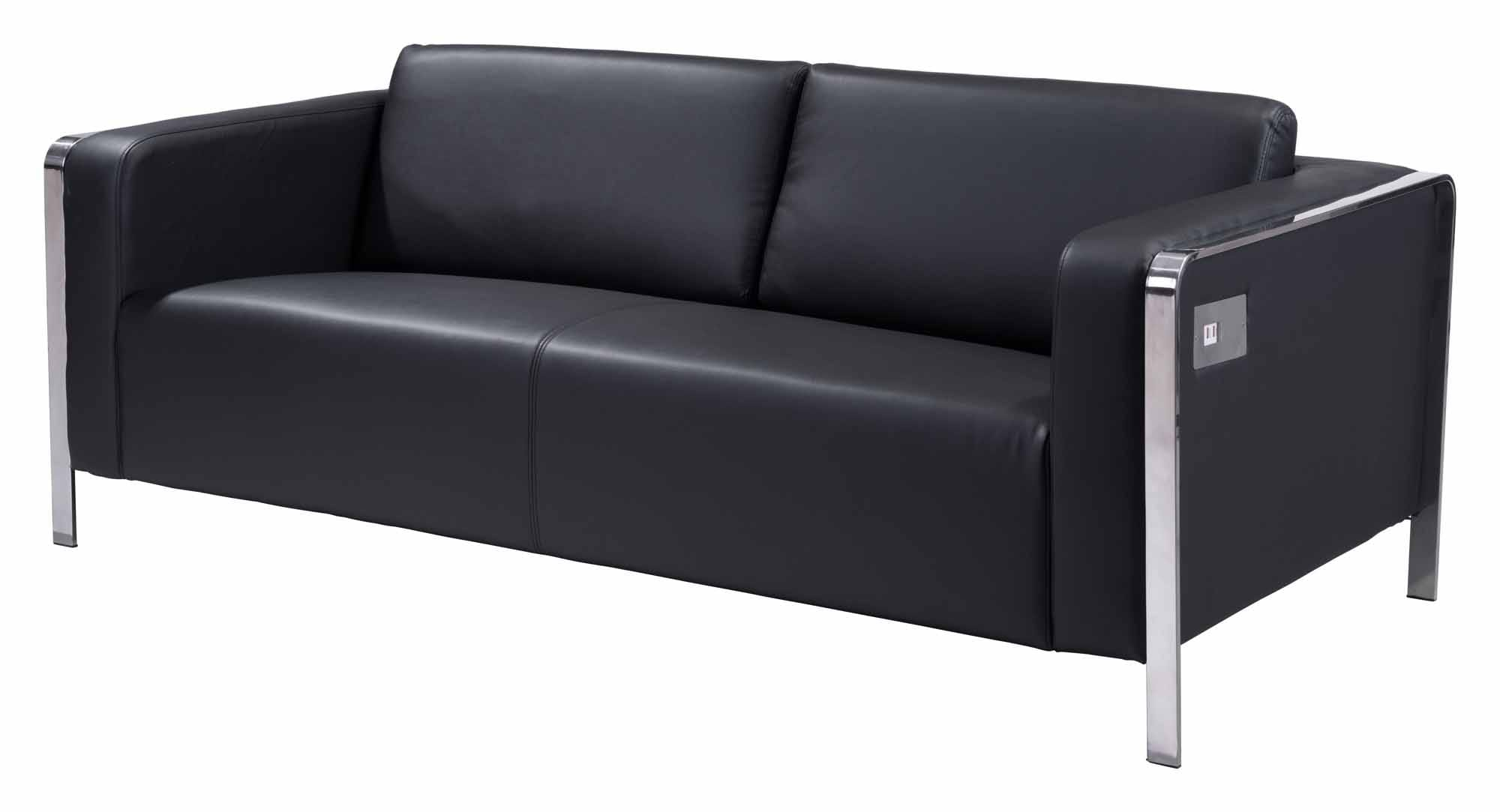 Thor Sofa Black By Zuo Modern