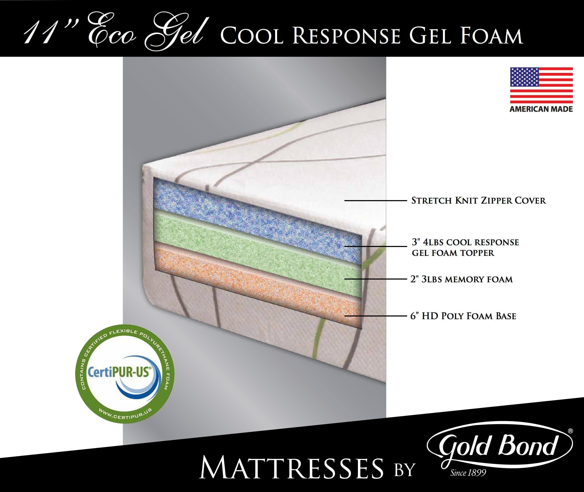 Eco 11 Inch Gel Memory Foam Mattress By Gold Bond