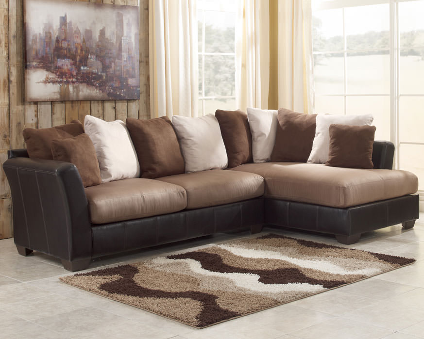 Brilliant Masoli Mocha Sectional Sofa Set Signature Design By Ashley Interior Design Ideas Gentotryabchikinfo