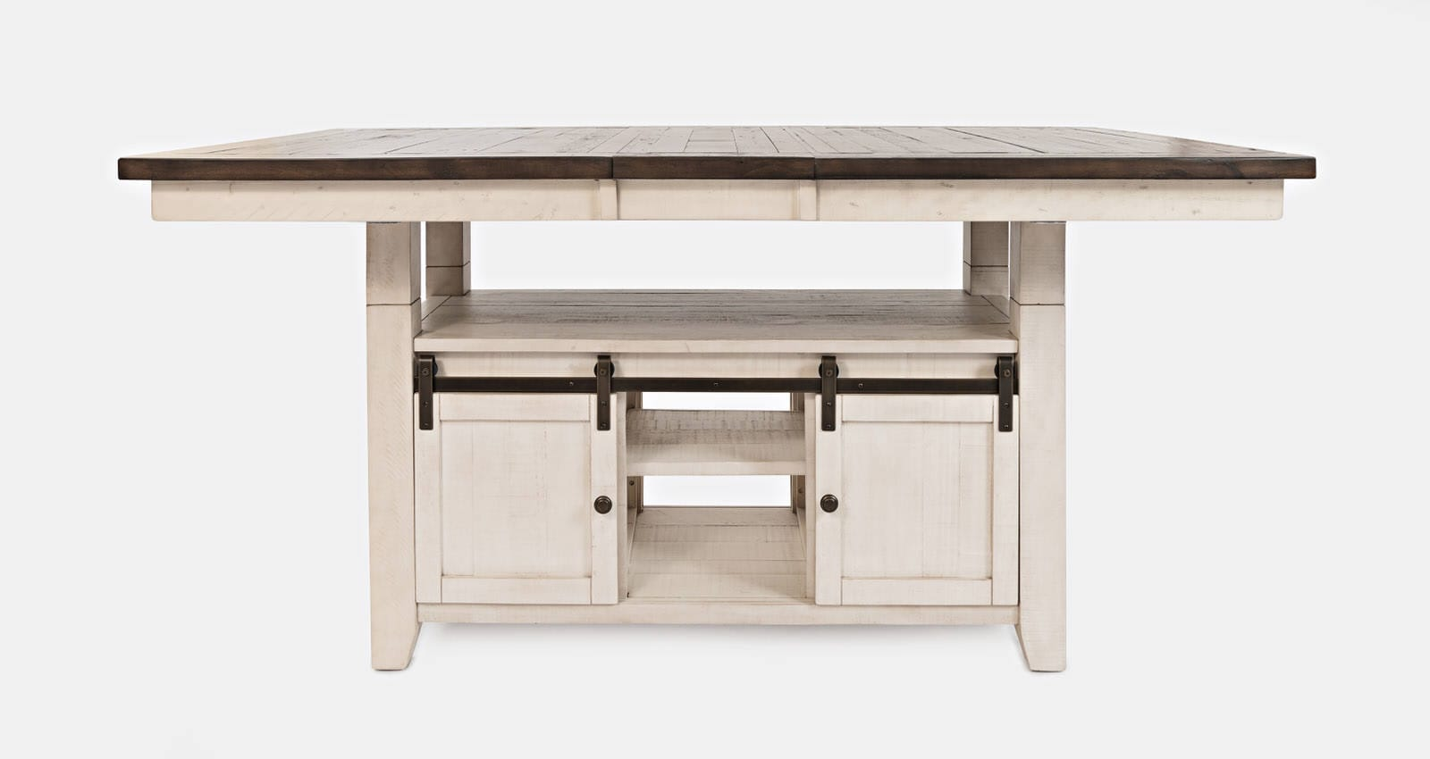 Madison County Vintage White High Low Dining Table By Jofran Furniture