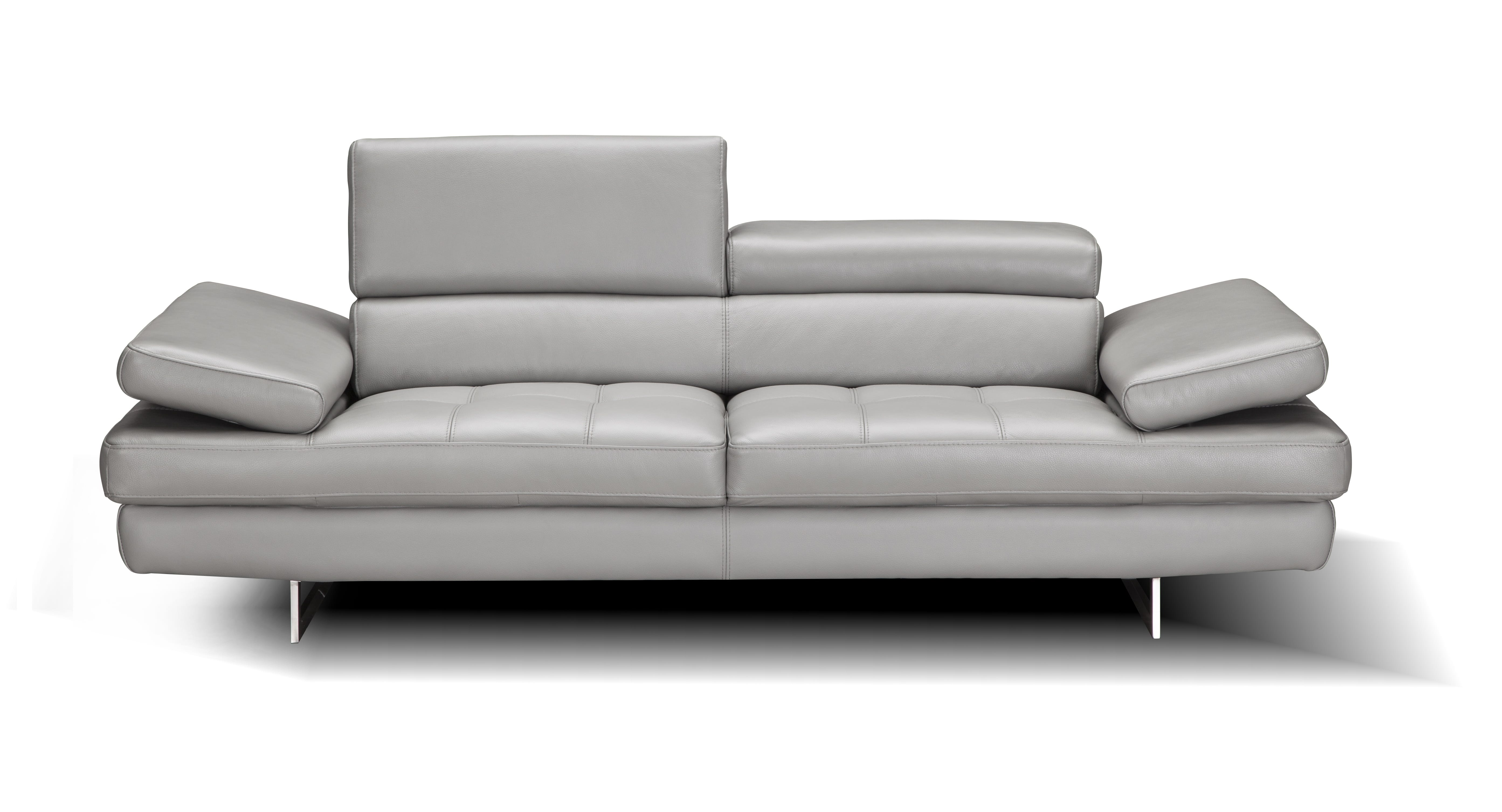 Aurora Premium Leather Sofa Gray By J M Furniture