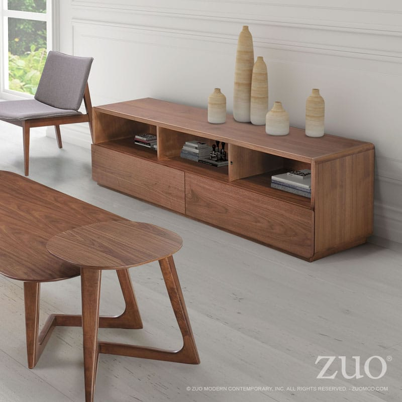 Park West Coffee Table Walnut By Zuo Modern