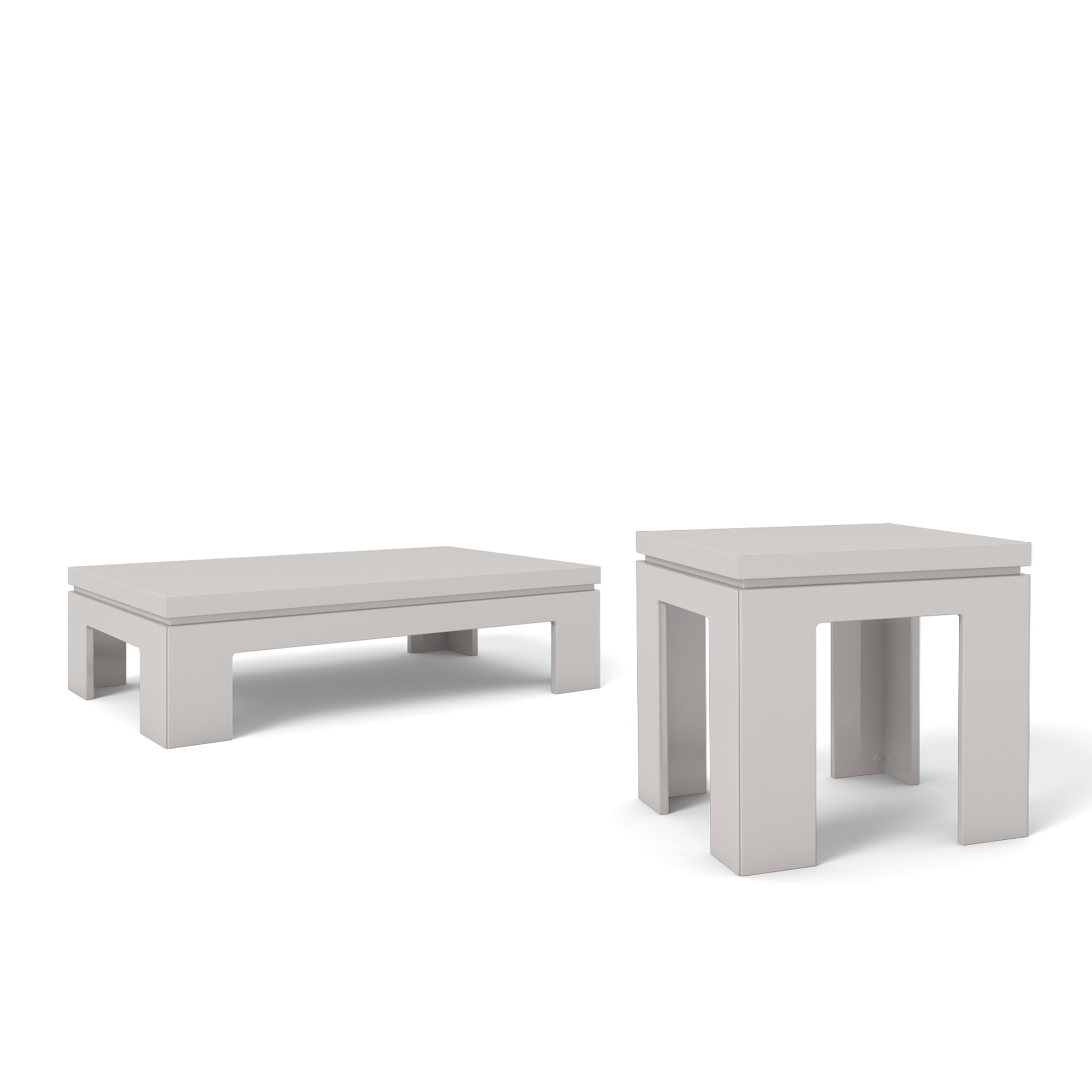 Bridge Off White 2-Piece Accent Table Living Room Set by Manhattan ...