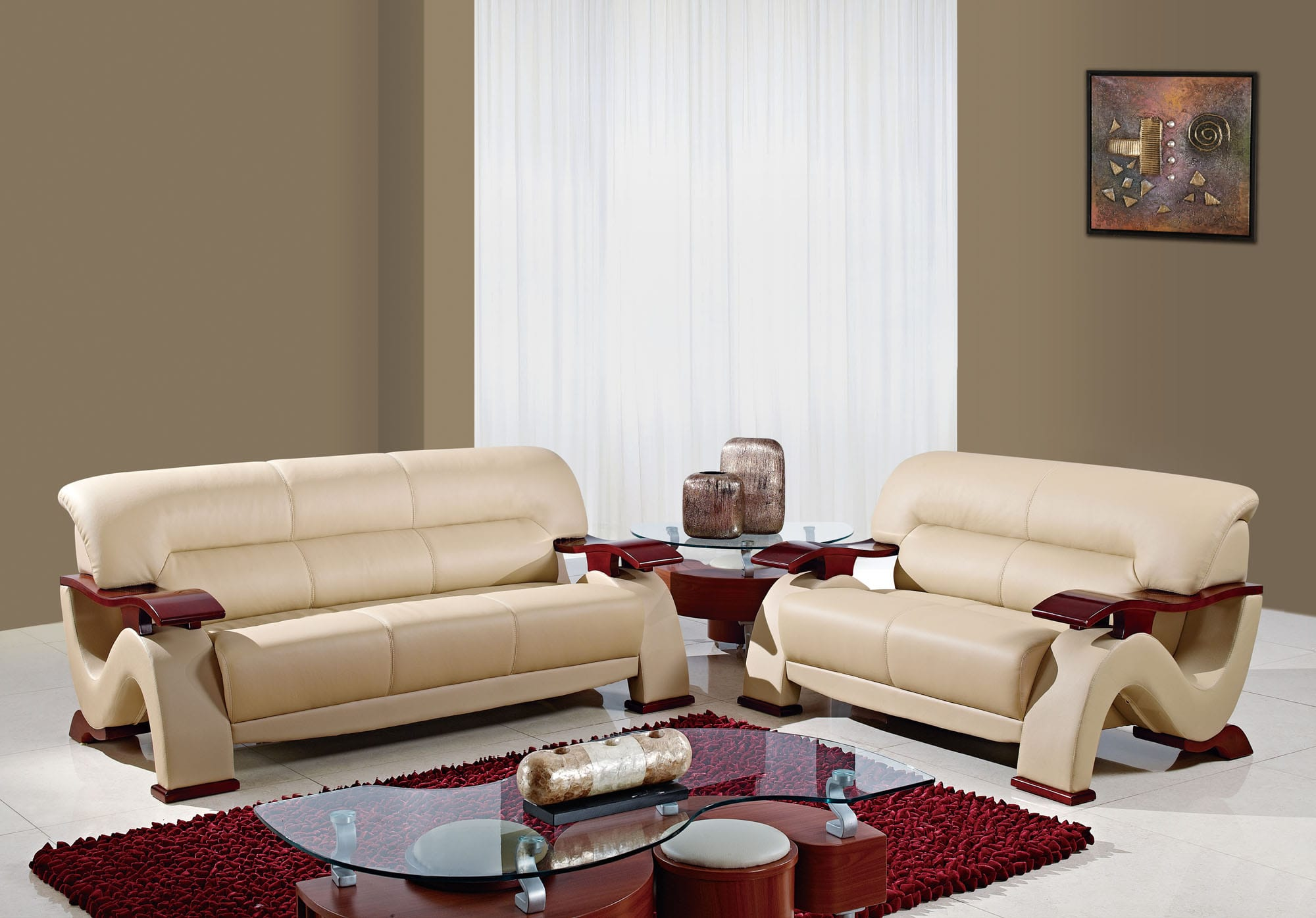 U2033 Cappuccino Bonded Sofa by Global Furniture