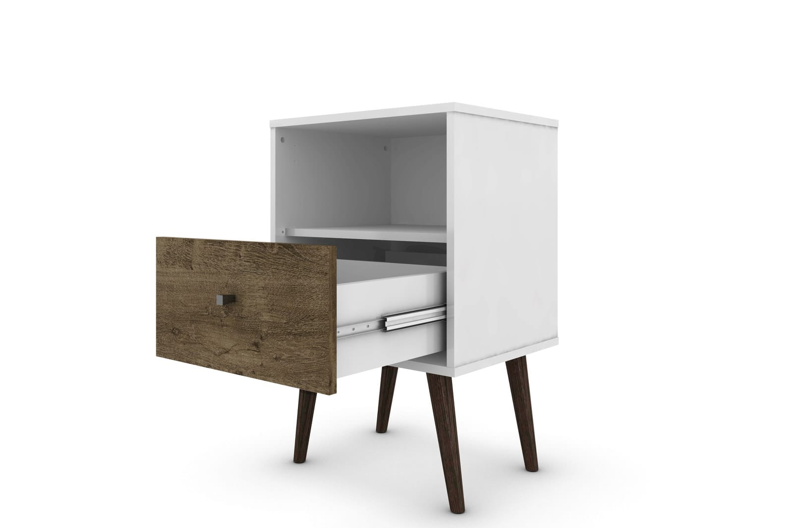 Liberty White And Rustic Brown Mid Century Modern