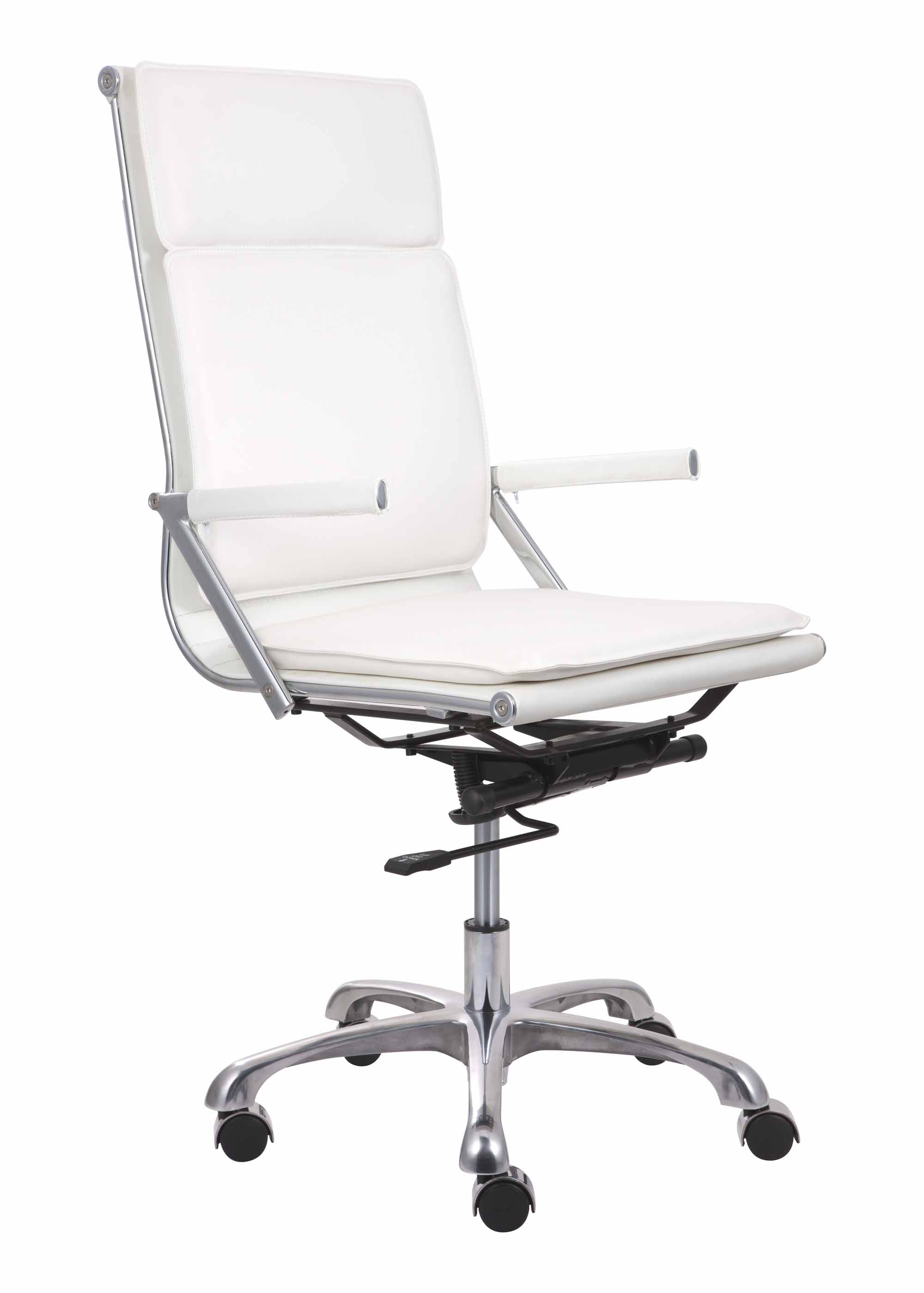 Lider Plus Hi Back Office Chair White By Zuo Modern