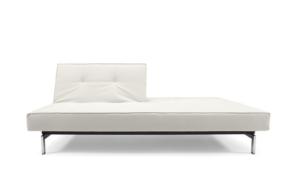 splitback sofa bed white leather textile by innovation. Black Bedroom Furniture Sets. Home Design Ideas