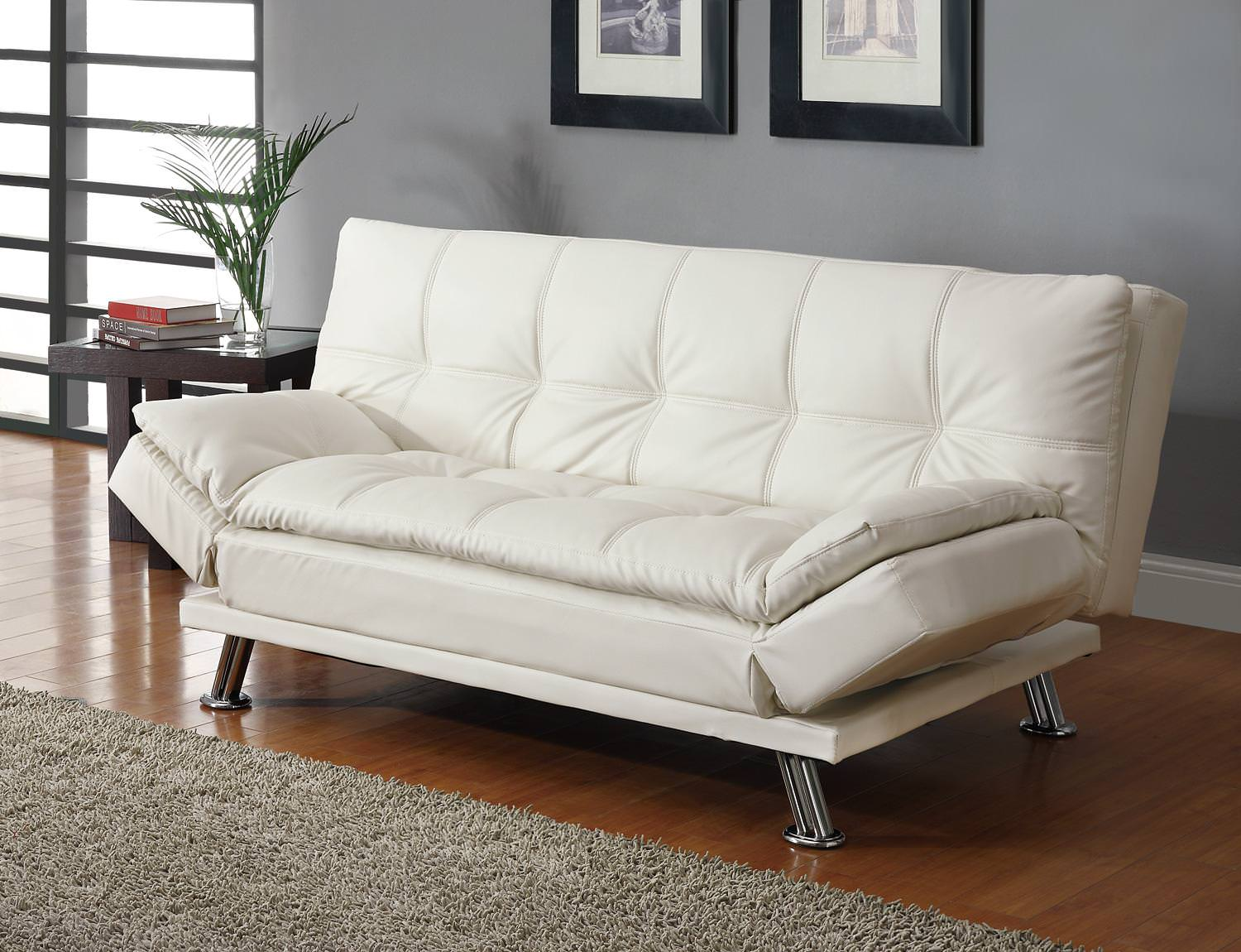 Pleasing 300291 Sofa Bed White By Coaster Squirreltailoven Fun Painted Chair Ideas Images Squirreltailovenorg