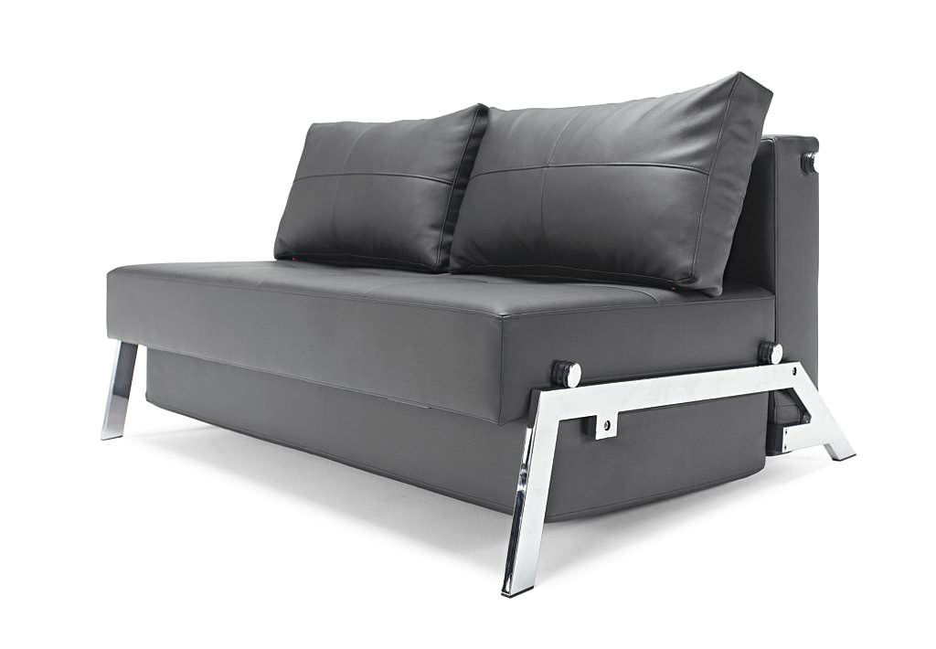 Cubed Deluxe Sofa Bed (Full Size) Black Leather Textile By Innovation  (Innovation USA