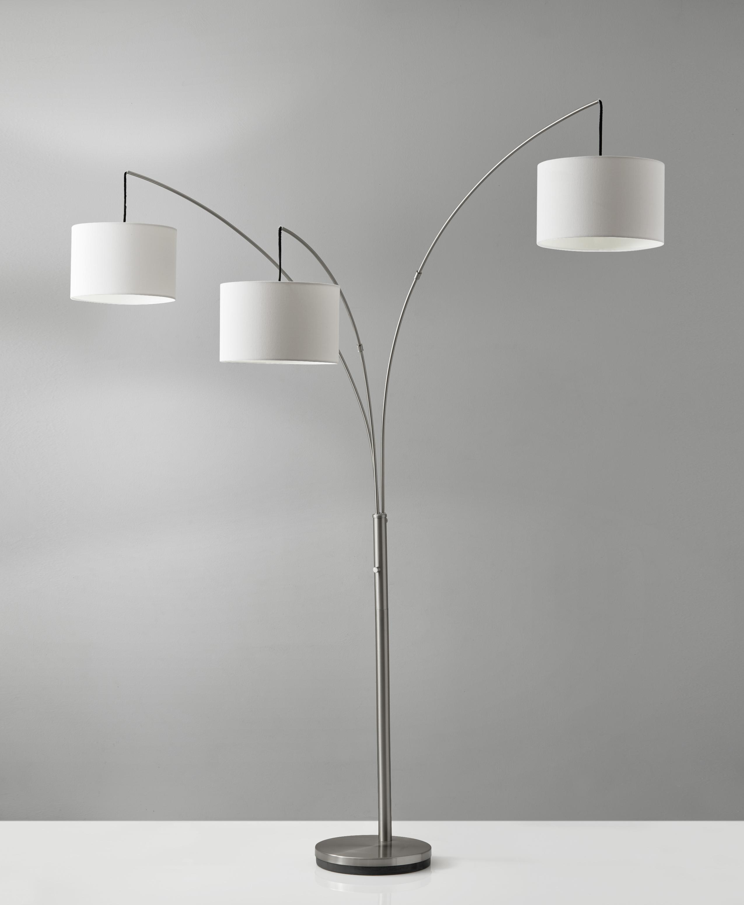 Trinity Arc Lamp (Brushed Steel) By Adesso Furniture (Adesso Furniture)
