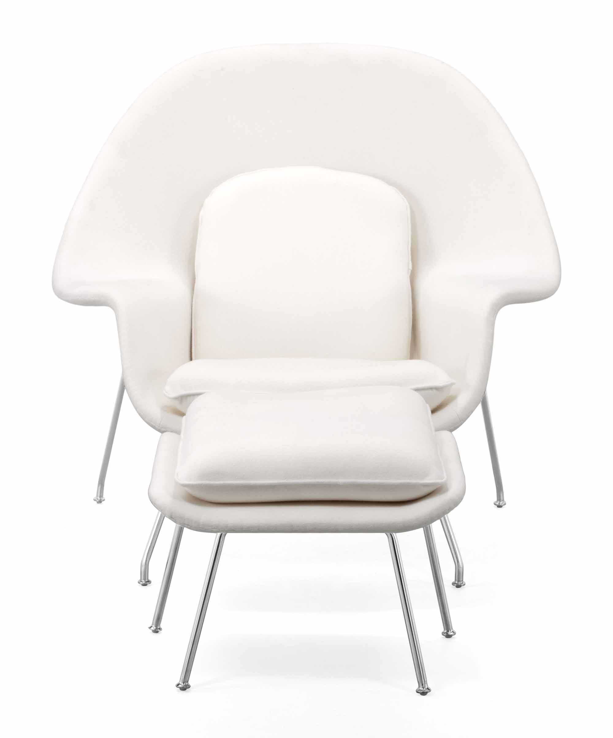 Nursery Chair And Ottoman White by Zuo Modern