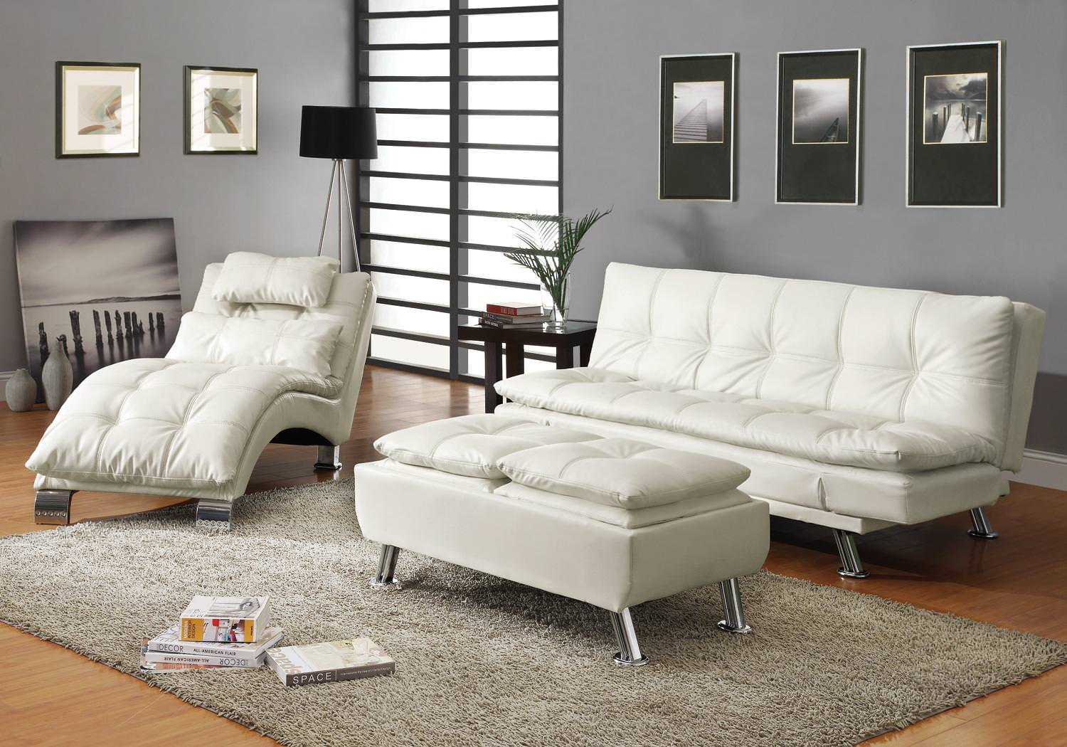 300291 Sofa Bed White By Coaster Fine Furniture