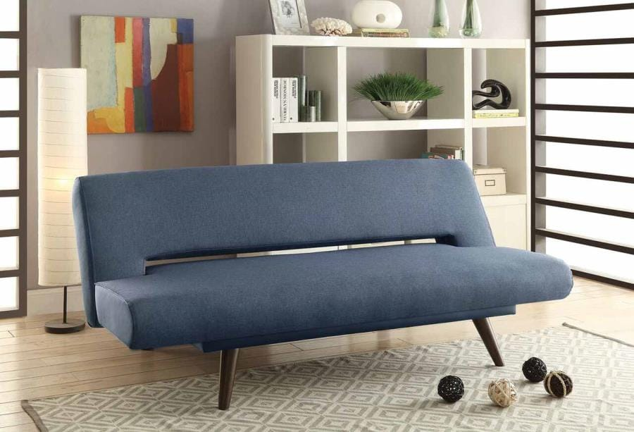 Exceptionnel 550139 Gray Fabric Walnut Wood Legs Foam Seating Sofa Bed By Coaster ( Coaster Fine Furniture