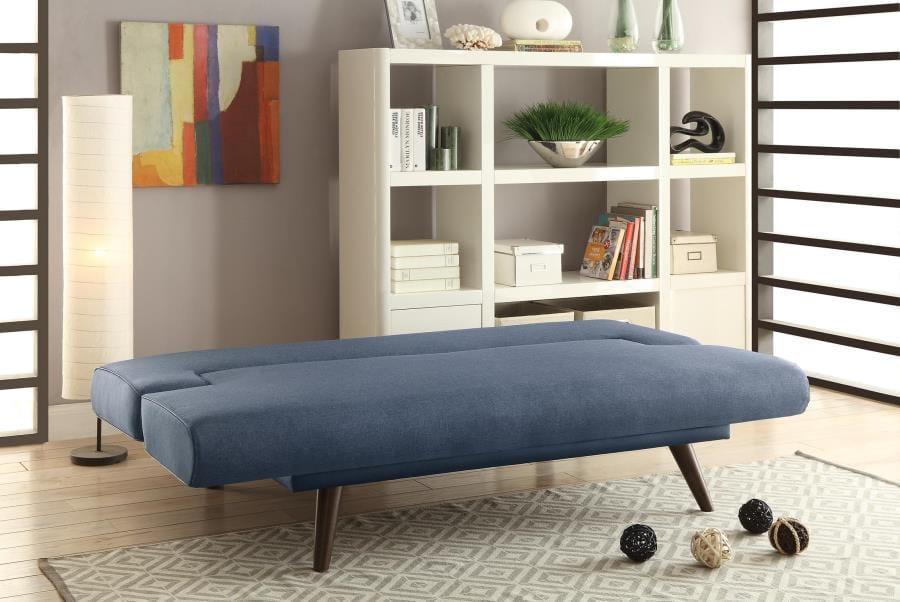 550139 Gray Fabric Walnut Wood Legs Foam Seating Sofa Bed By Coaster ( Coaster Fine Furniture