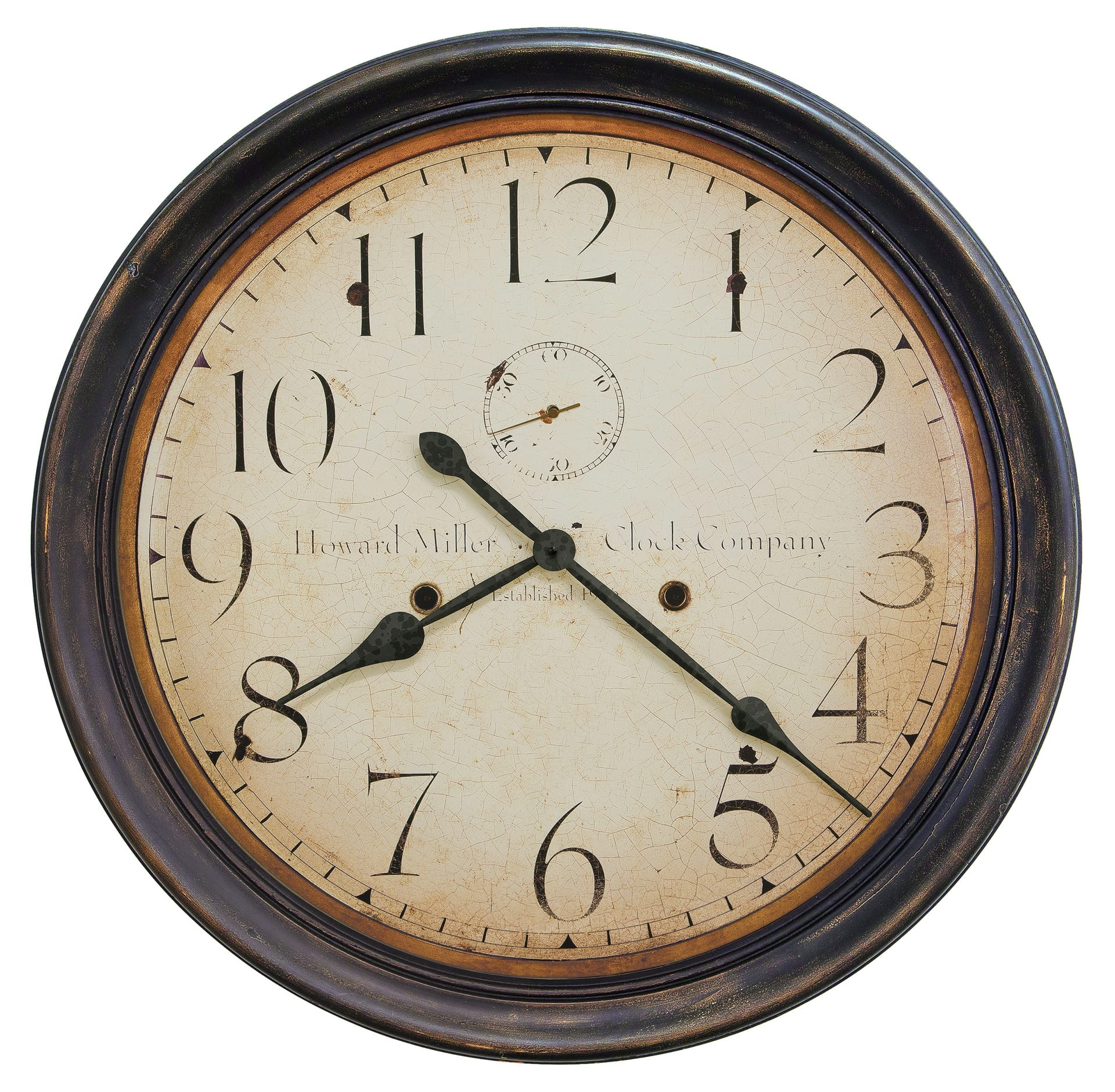 625 627 Squire Wall Clock By Howard Miller