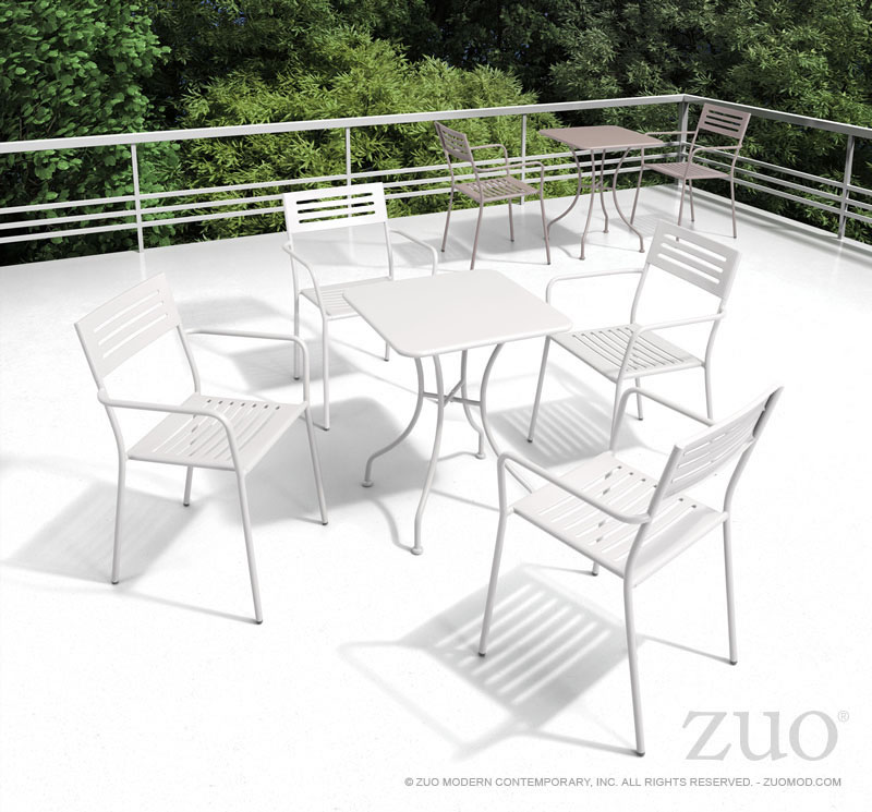 Oz Dining Square Table Taupe By Zuo Modern