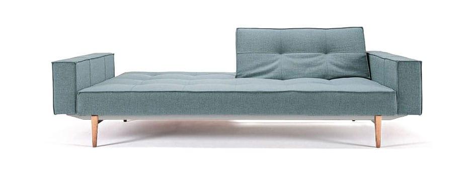 Splitback Sofa Bed W/Arms Coastal Seal Gray By Innovation (Innovation USA)