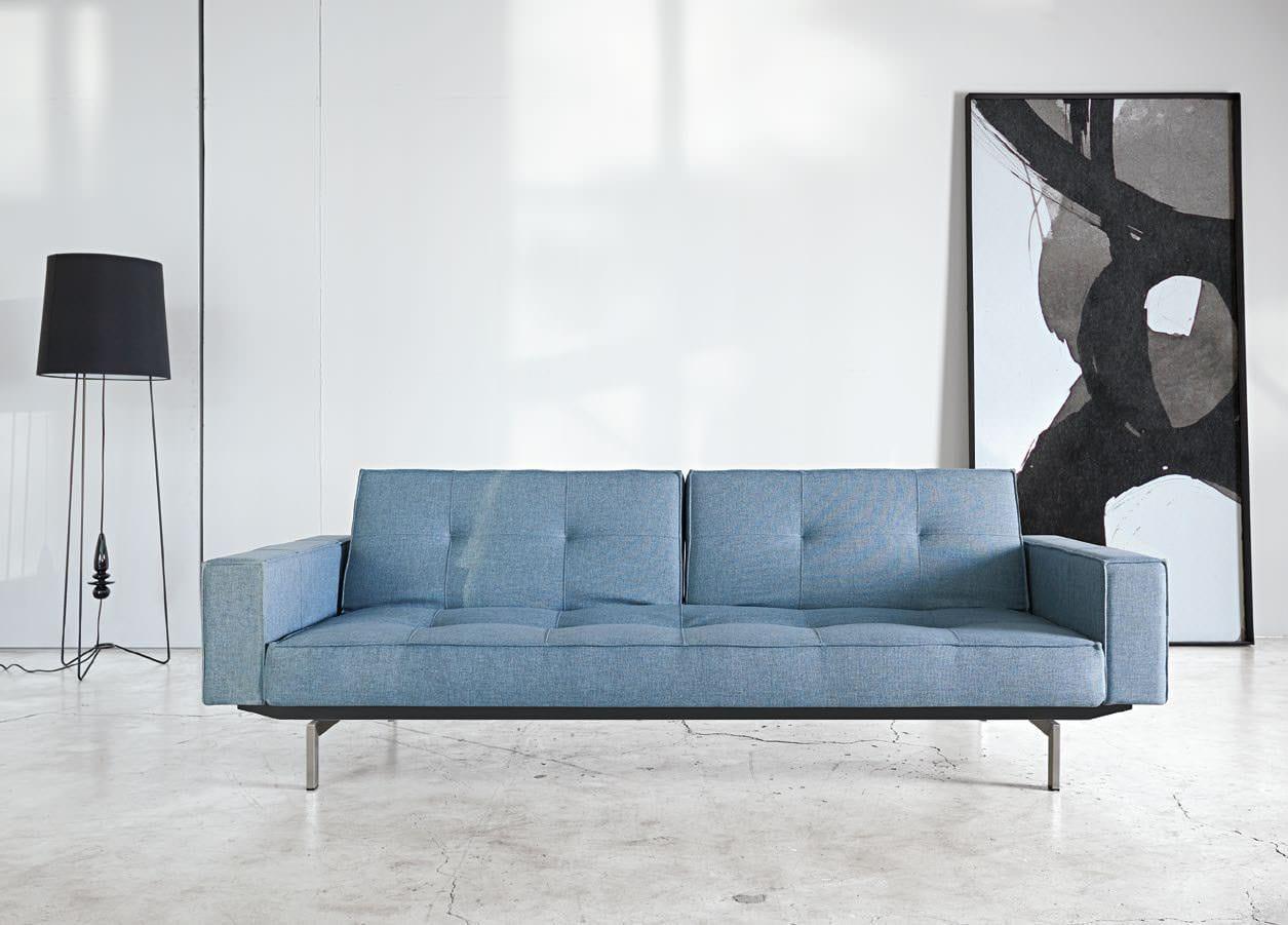 Splitback Sofa Bed W Arms Coastal Seal Gray By Innovation Usa
