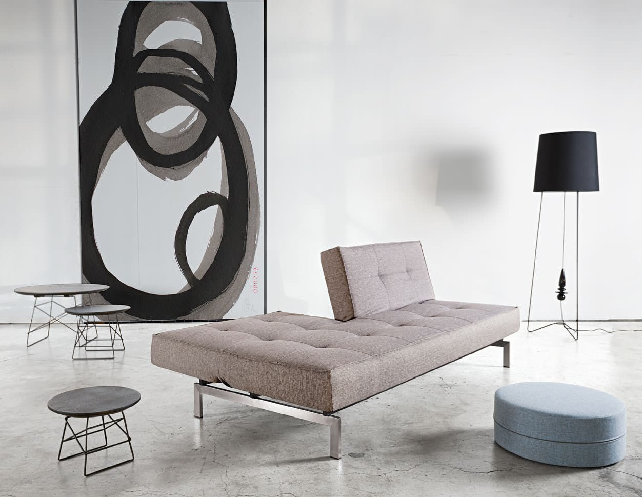 Splitback Sofa Bed Mixed Dance Light Grey By Innovation Usa