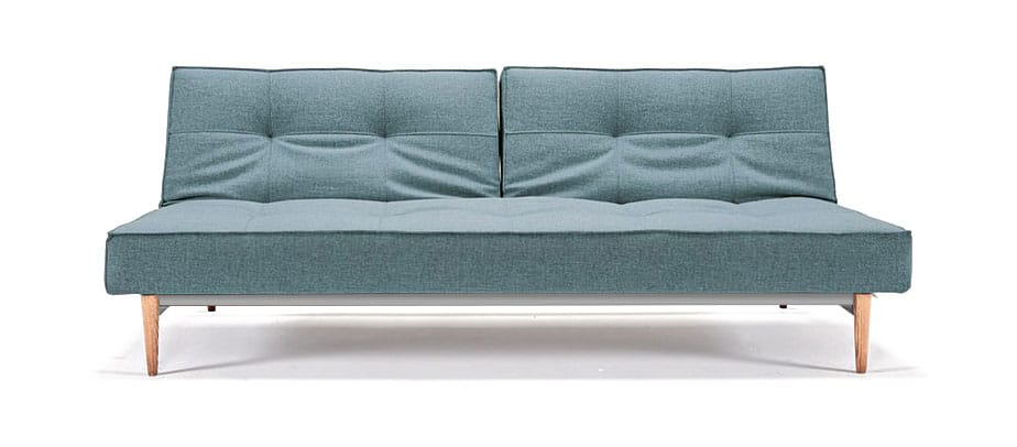 Splitback Sofa Bed Mixed Dance Light Blue By Innovation