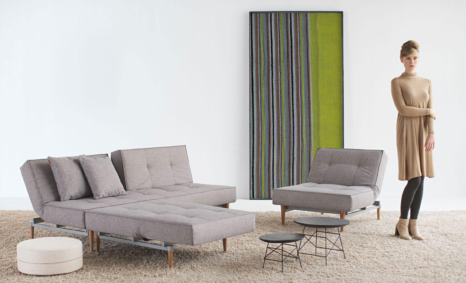 Splitback Chair Mixed Dance Gray By Innovation (Innovation USA)