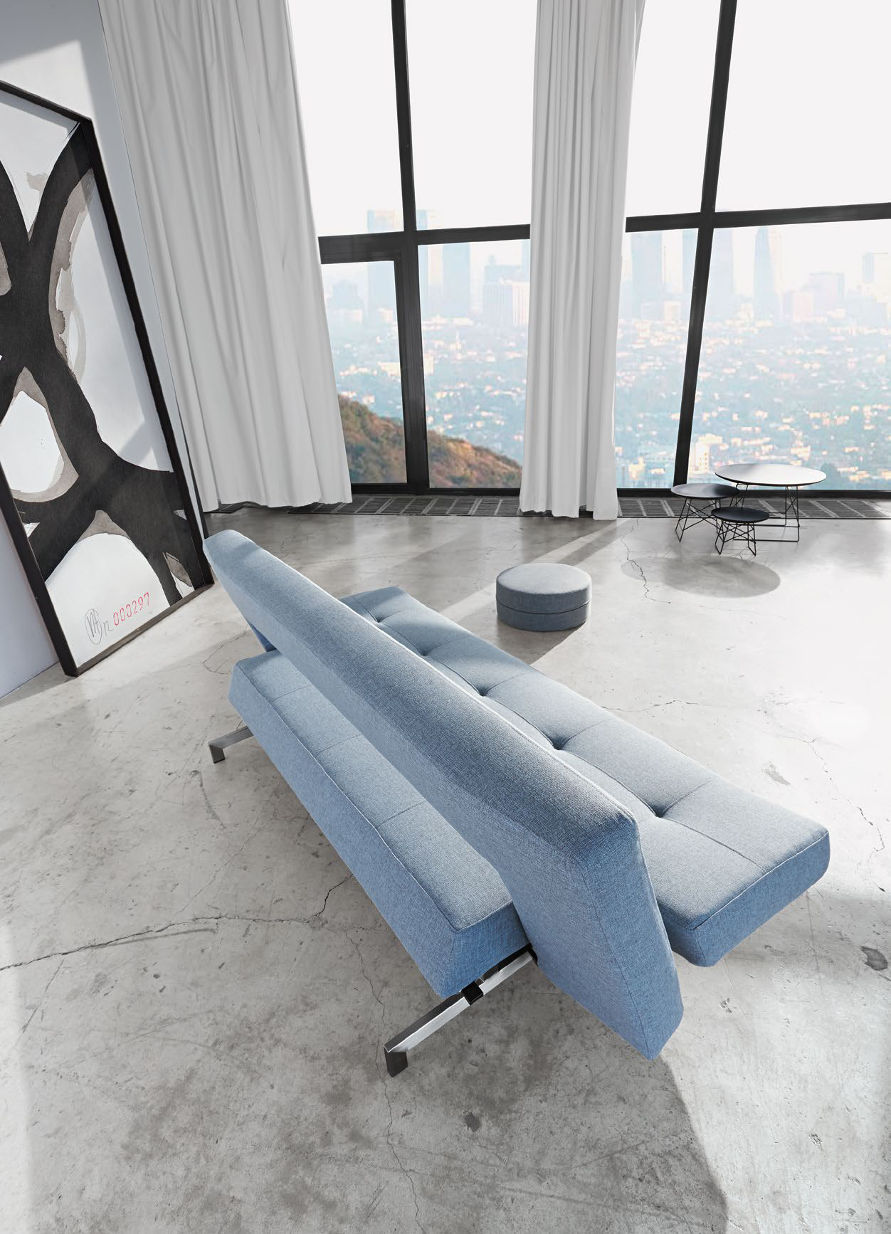 Wing Deluxe Sofa Bed Mixed Dance Light Blue By Innovation