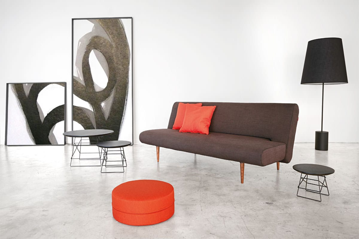 Unfurl Sofa Bed Heavy Natch Brown/Black By Innovation (Innovation USA)