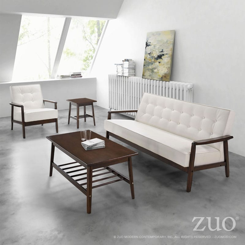 Prime Aventura Sofa White By Zuo Modern Andrewgaddart Wooden Chair Designs For Living Room Andrewgaddartcom