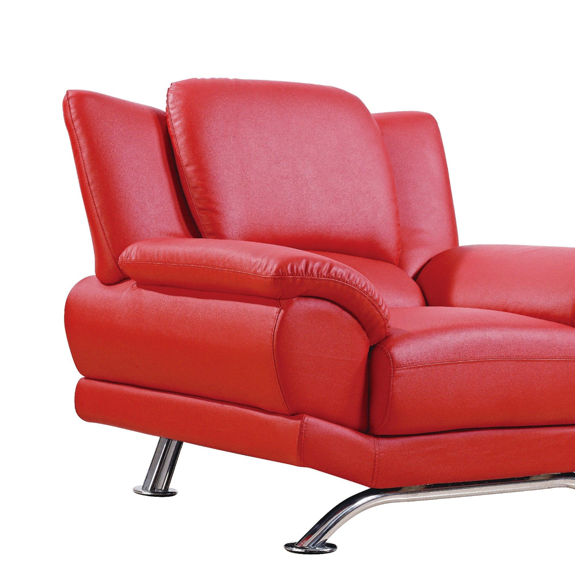 U9908 Red Bonded Loveseat By Global Furniture