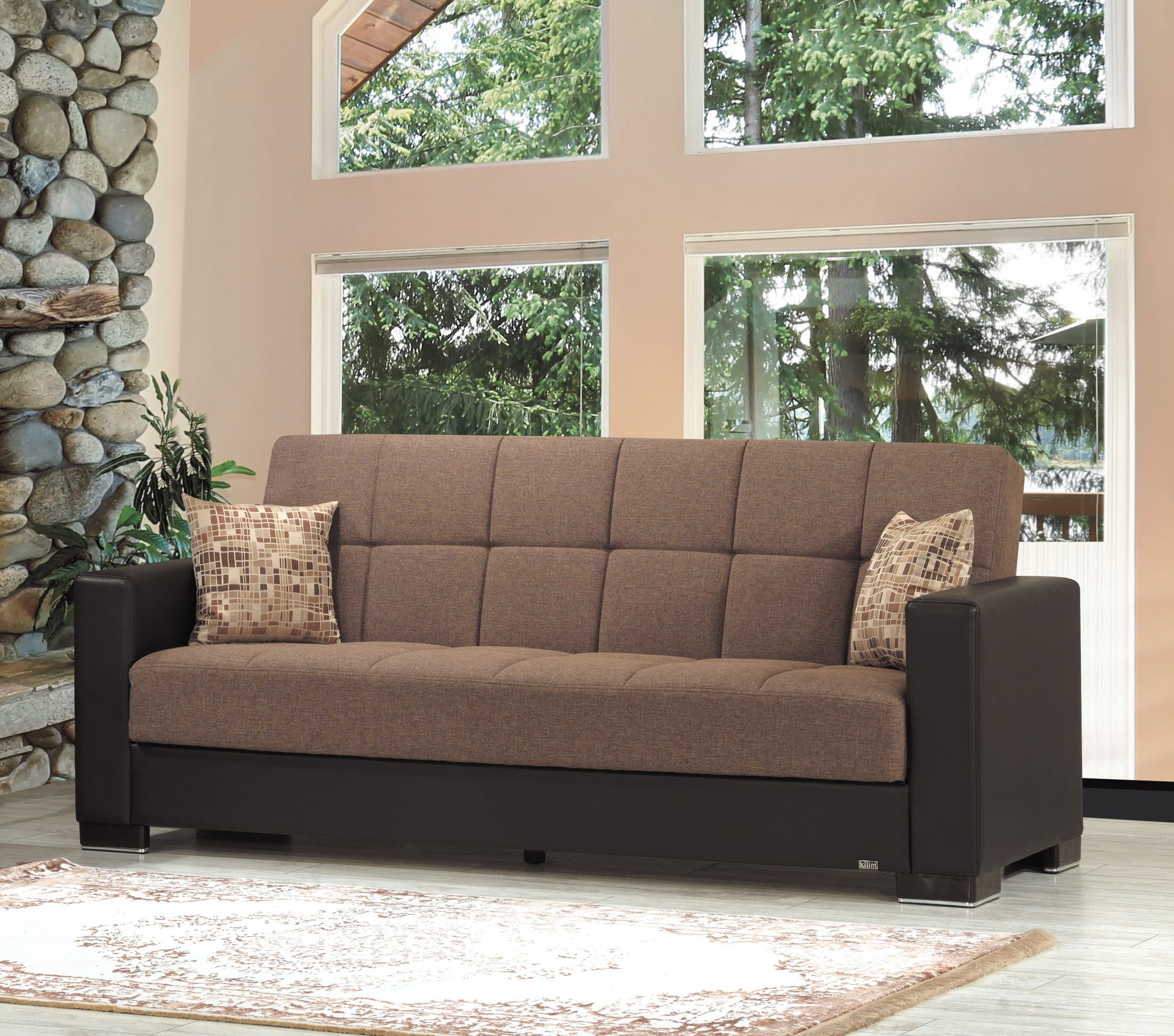 Armada Brown Fabric Sofa Bed By Casamode