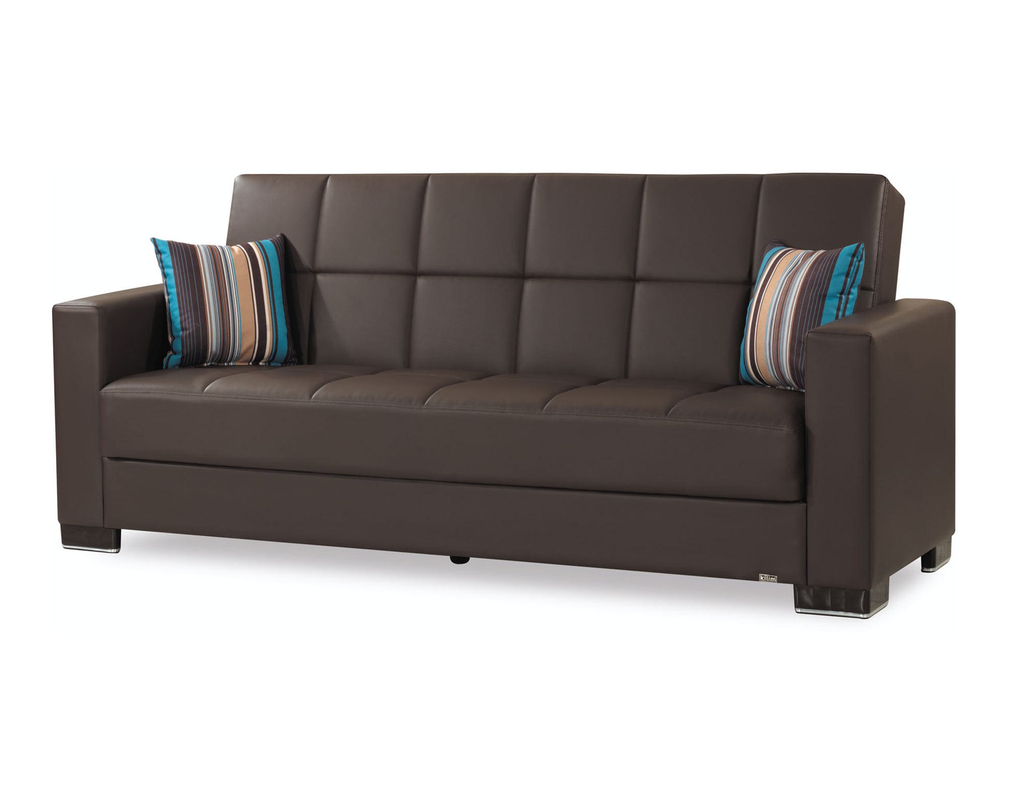 Beau Armada Brown PU Sofa Bed By Casamode (Casamode)