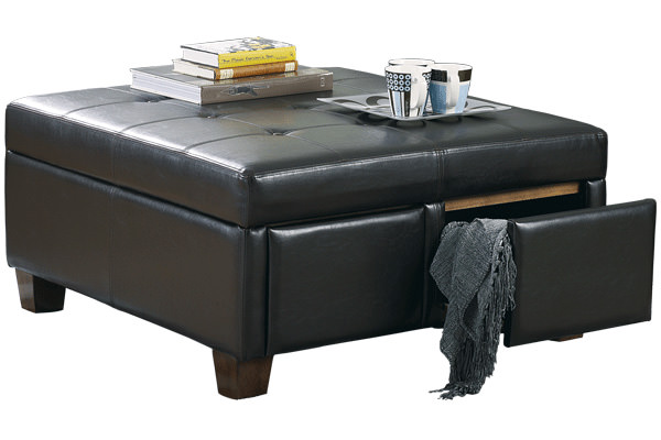Durahide Ottoman With Drawers Signature Design By Ashley