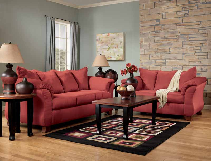 Dulla Red Sofa Set By Signature Design Ashley