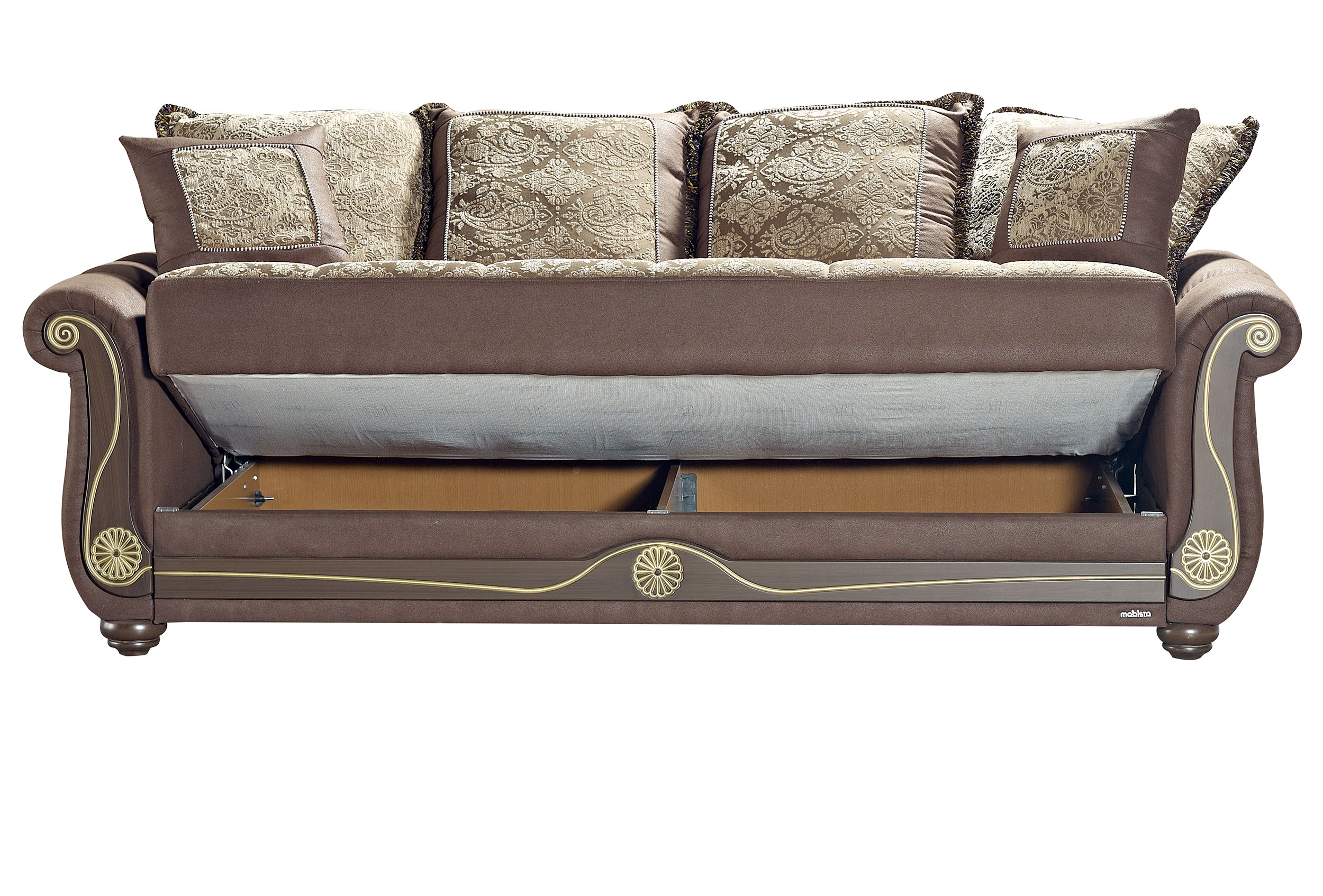 American Style Crown Brown Sofa Bed By Mobista