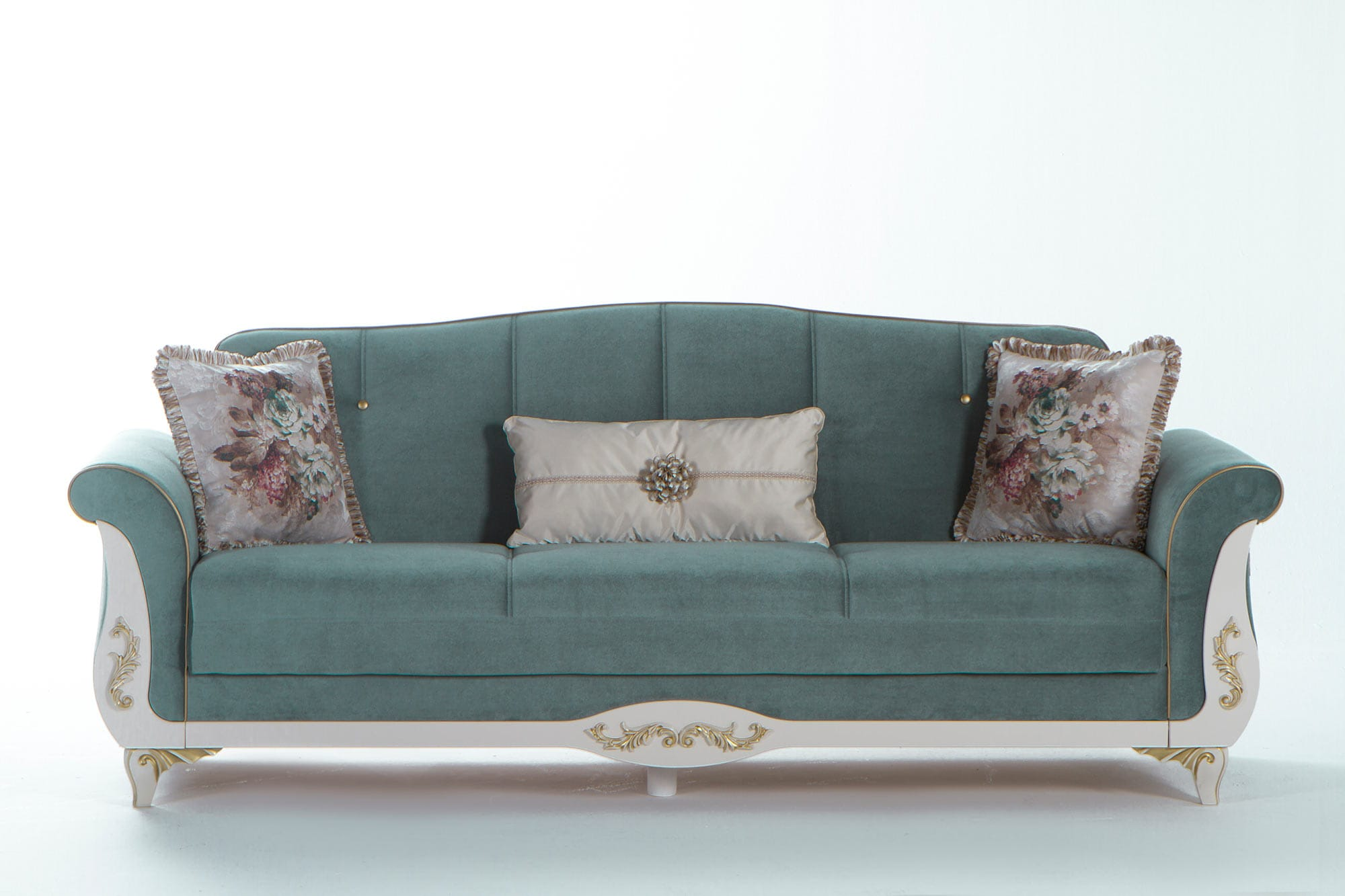 Astoria Caprice Seafoam Green Convertible Sofa Bed By Istikbal Sunset