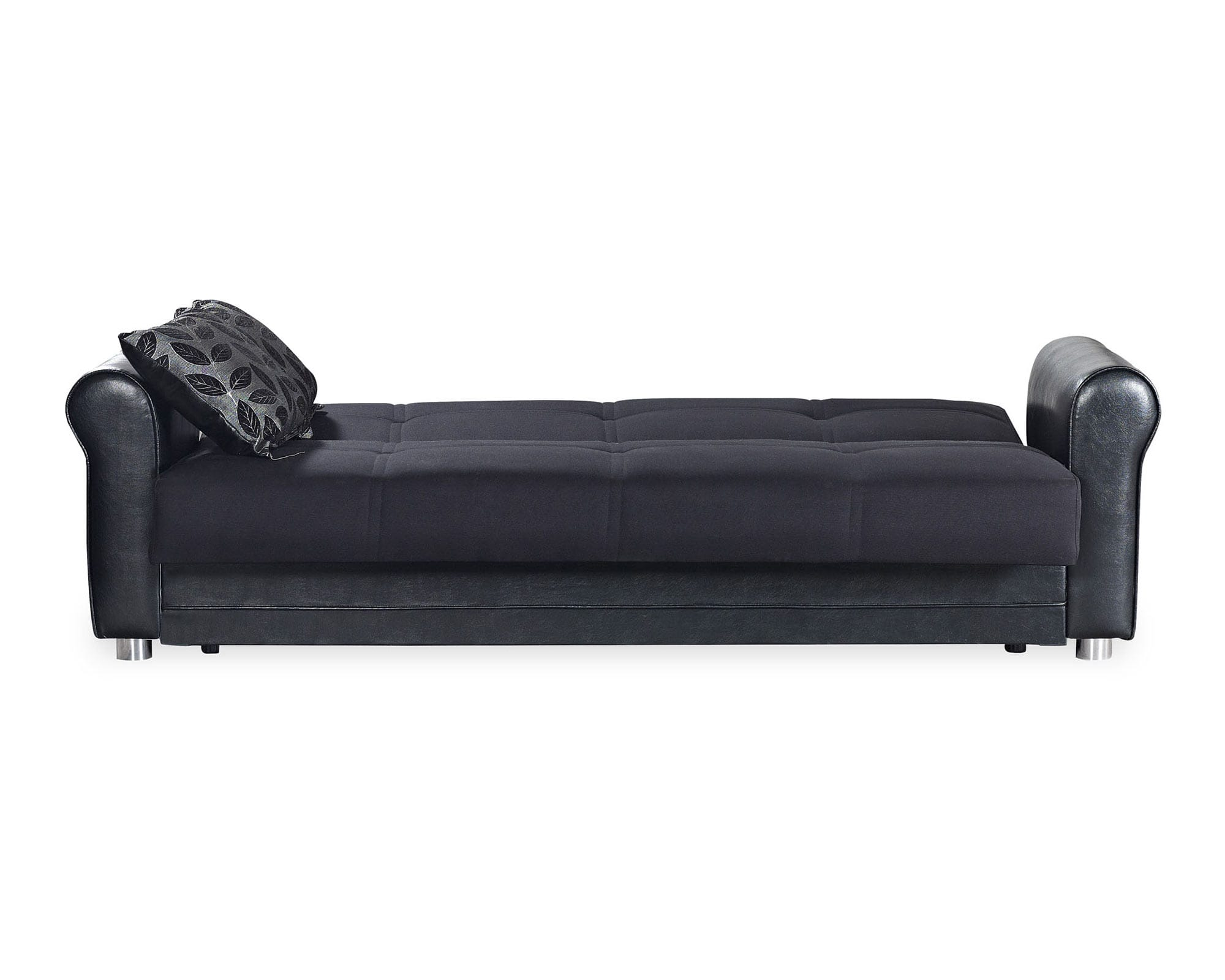 Avalon Plus Prusa Black Convertible Sofa by Casamode