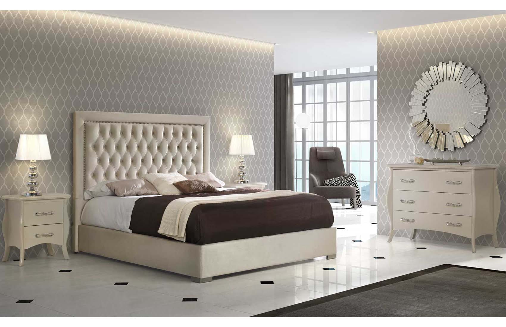 Adagio Ivory Bedroom Set By Esf