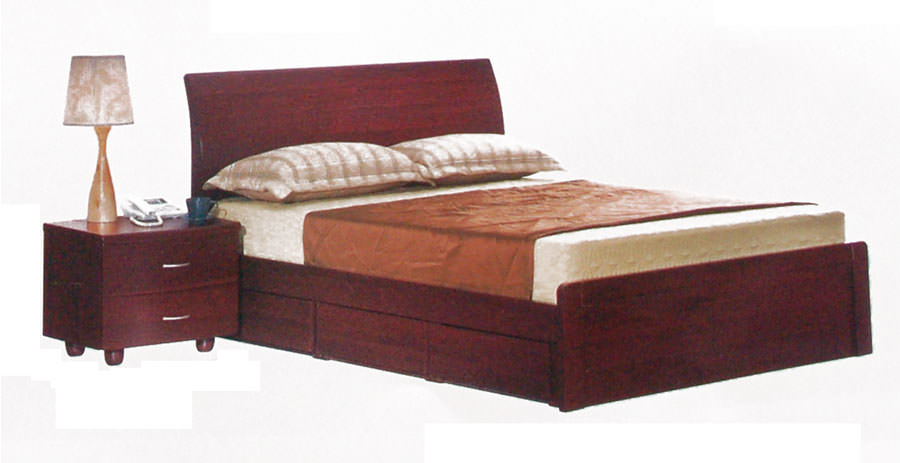 BD 203 Platform Bed with 3 Drawers by Alina