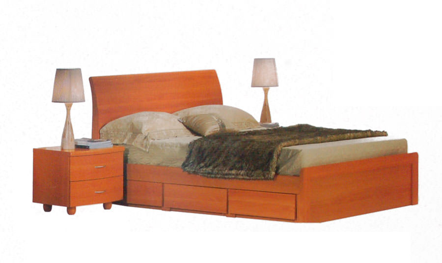 BD 203 Cherry Bedroom Set by Alina