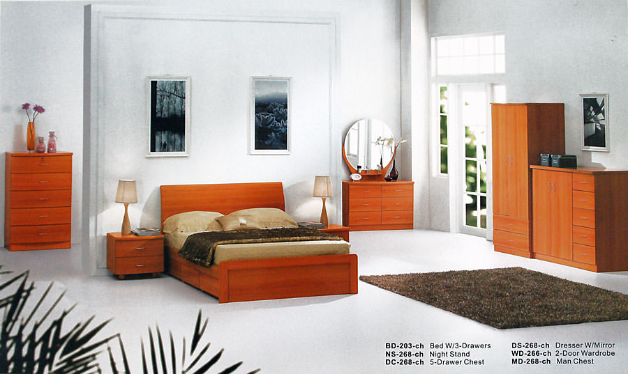 BD 203 Cherry Bedroom Set By Alina Alina Furniture