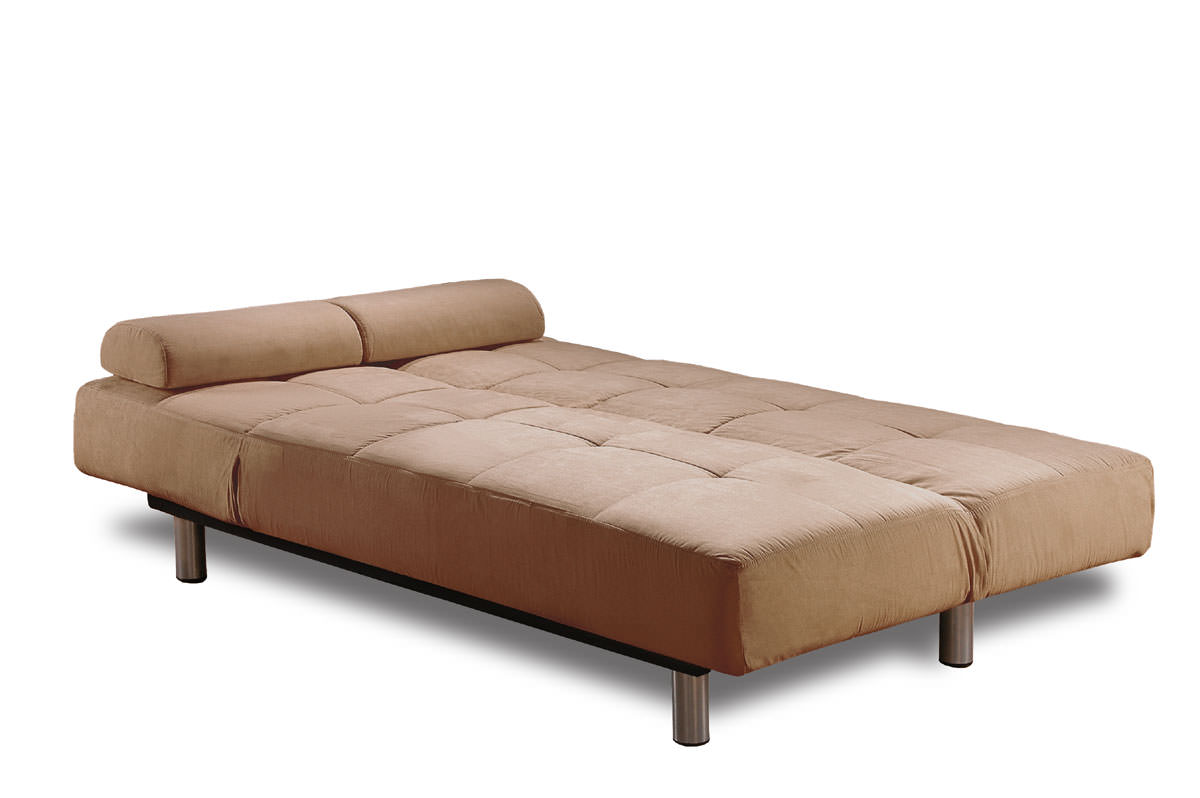 Aruba Casual Convertible Deluxe Khaki Sofa Bed By Lifestyle