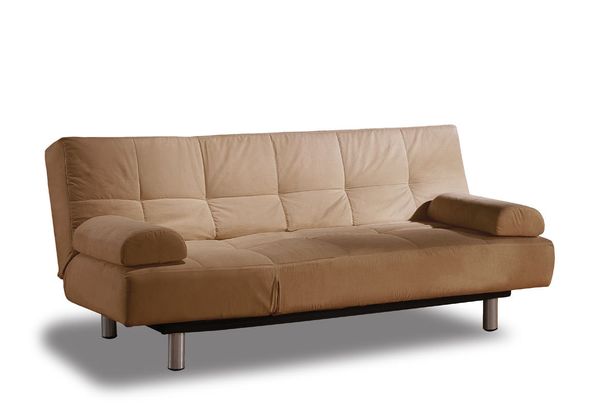 Aruba casual convertible deluxe khaki sofa bed by lifestyle for Casual couch