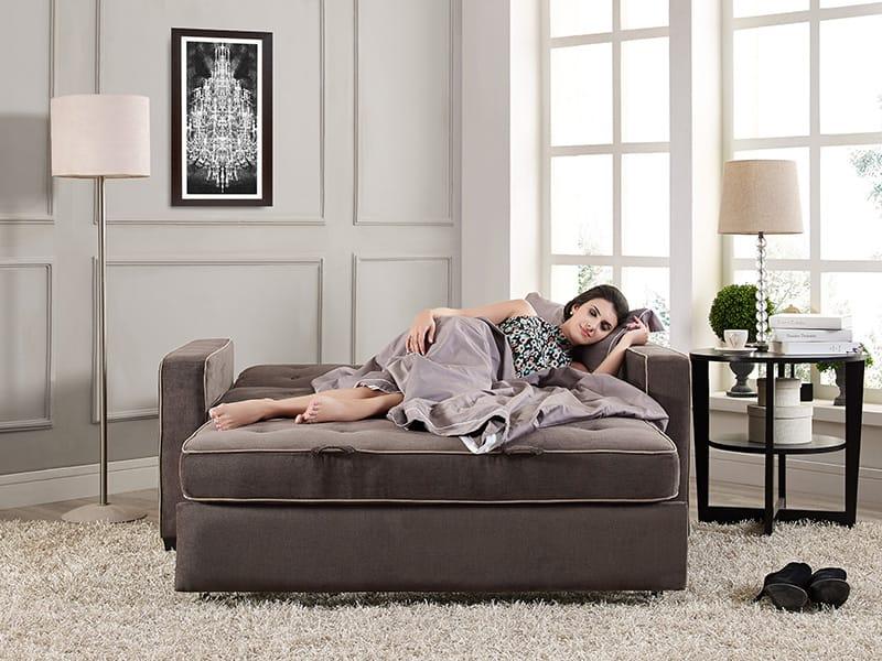 Augustine Loveseat Full Size Sleeper Java By Serta Lifestyle
