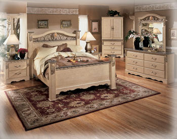 silverglade mansion bedroom set by signature design home design. Black Bedroom Furniture Sets. Home Design Ideas