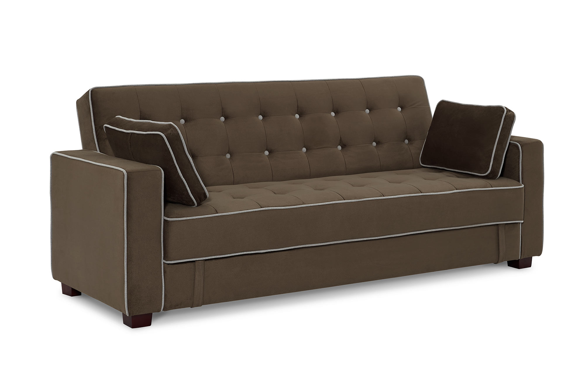 Belize Heavenly Chestnut Sofa Convertible W Storage By Sealy Convertibles