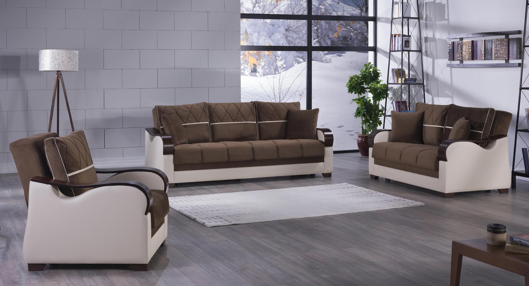 Bennett Best Brown Sofa, Love U0026 Chair Set By Istikbal (Sunset) (Istikbal
