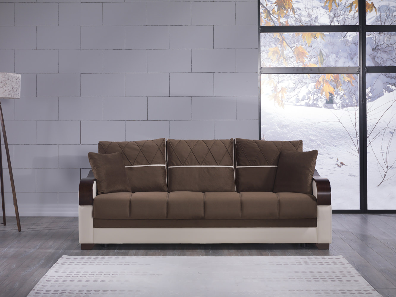 Bennett Best Brown Convertible Sofa Bed By Sunset (Sunset International  (Istikbal))