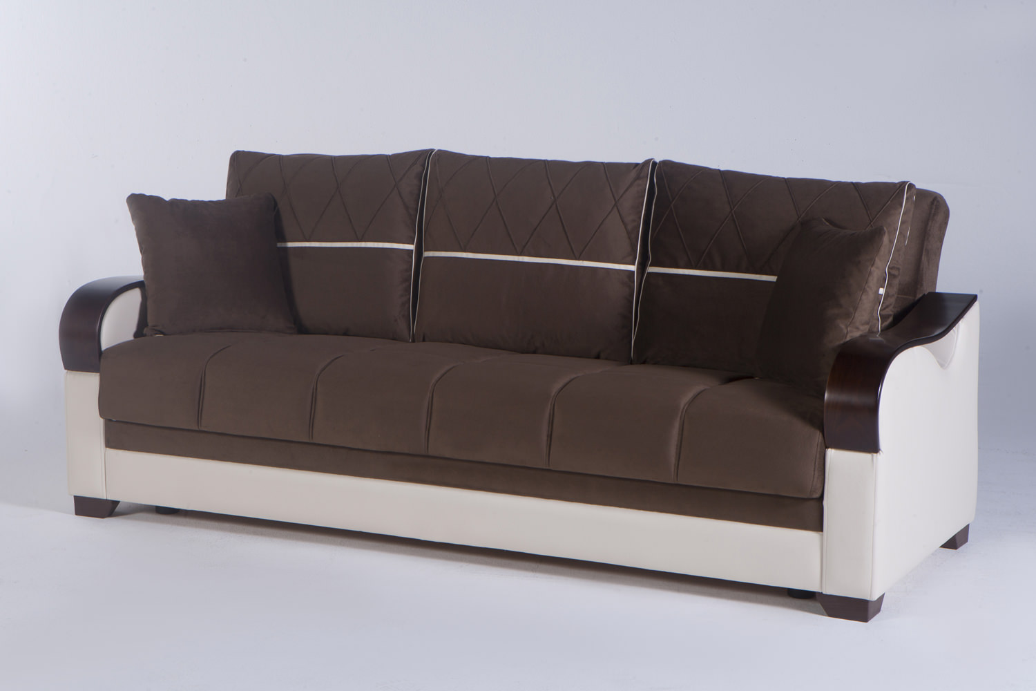 Bennett Best Brown Convertible Sofa Bed By Istikbal Sunset Furniture